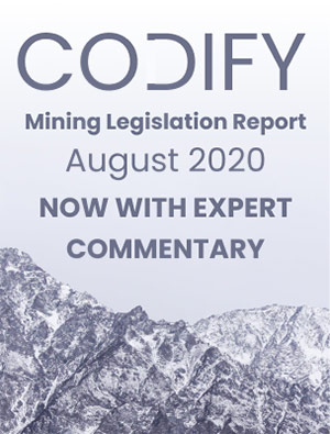 Codify Mining Legislation Report August - 2020